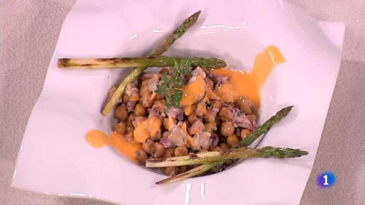 Cocina con Sergio - Garbanzos crujientes con vinagreta veraniega - ver ahora