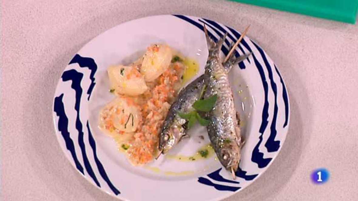 Cocina con sergio sardinas al lim n con patatas al - Cocina con sergio pepa ...