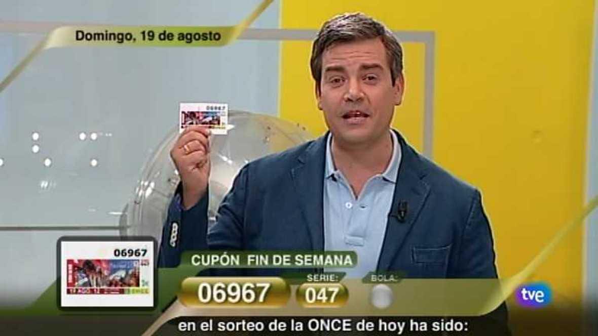 Sorteo ONCE - 19/08/12 - Ver ahora