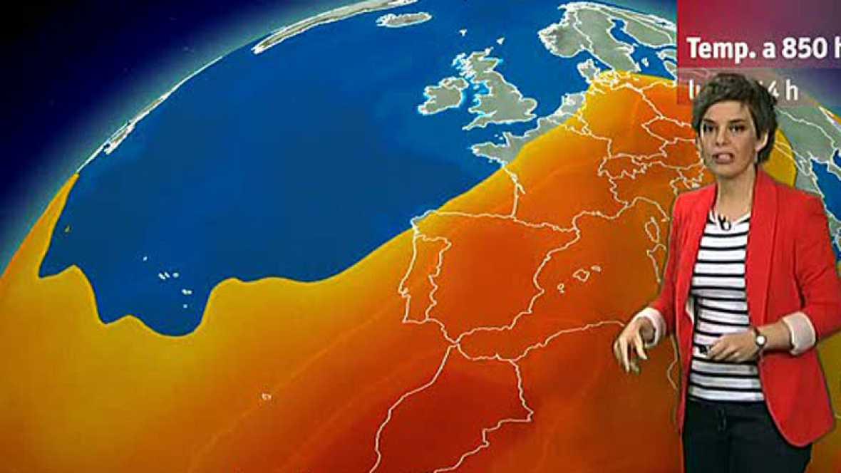 La semana se inicia con temperaturas altas en la mayor parte del país