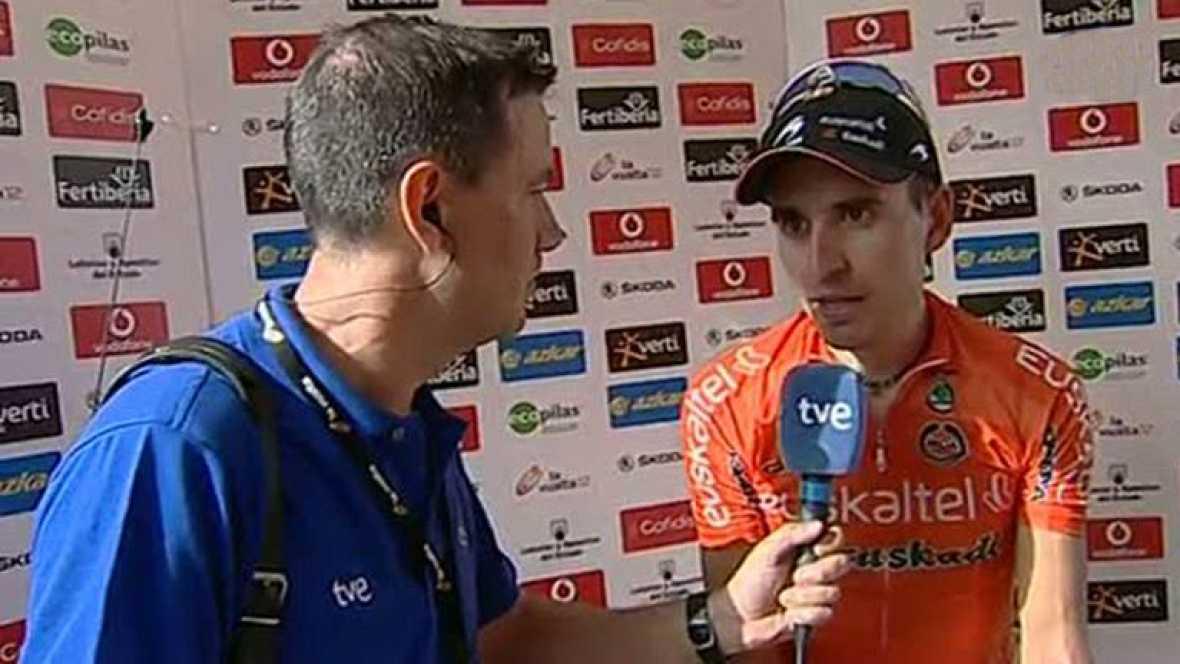 """El ciclista vasco Igor Antón ha declarado, tras el primer contacto con la montaña en la Vuelta a España 2012, que, a pesar de quedarse cortado, """"se siente contento por la etapa ya que era para corredores muy explosivos, como """"Purito"""" o """"Valverde"""". A"""