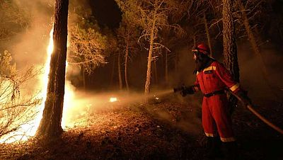 El humo del incendio de Castrocontrigo puede verse a cien kilómetros de distancia