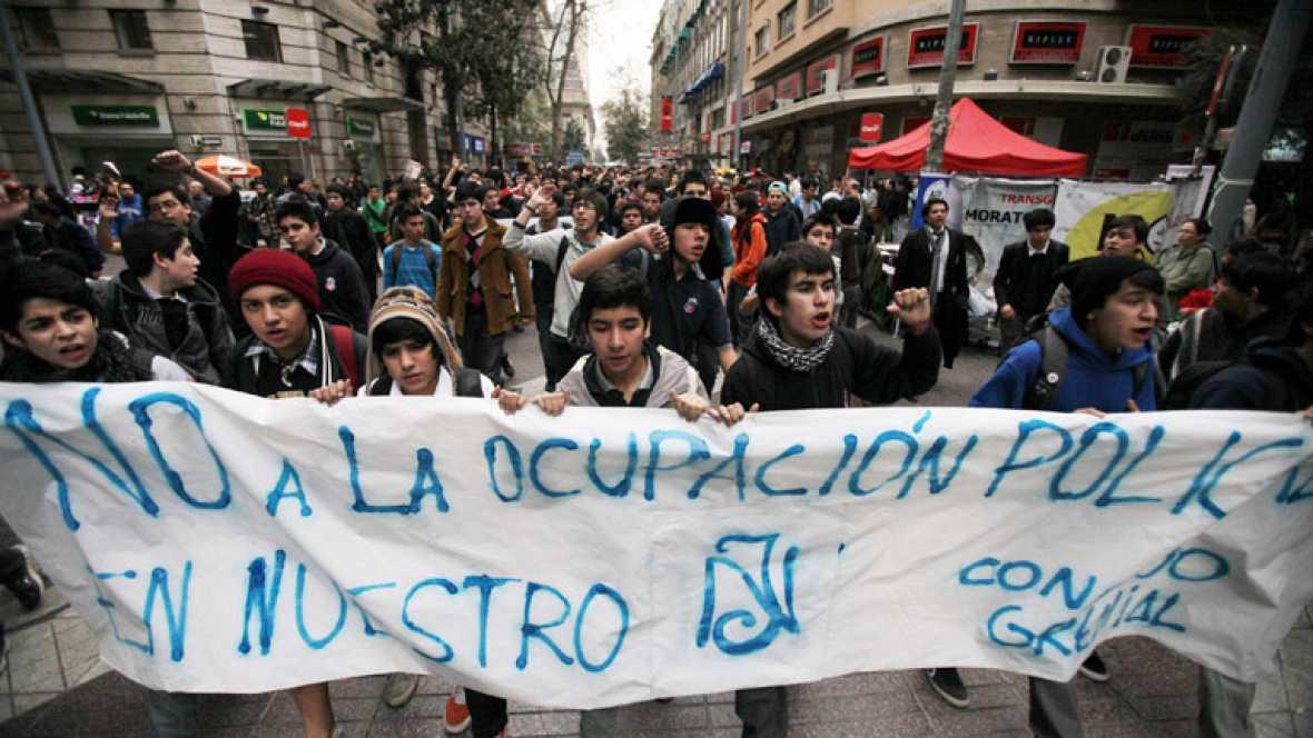 Los estudiantes chilenos continúan con sus ocupaciones de institutos