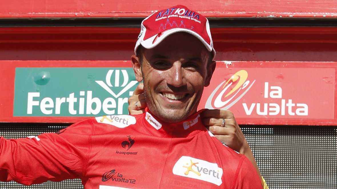 """Joaquim """"Purito"""" Rodriguez, líder de la Vuelta a España 2012, señalaba en la llegada a Logroño  """"Hoy ha sido un día muy tranquilo, no había peligro salvo el final que ha sido un poco estresante, el resto hemos estado cómodos pero mañana tengo el día"""