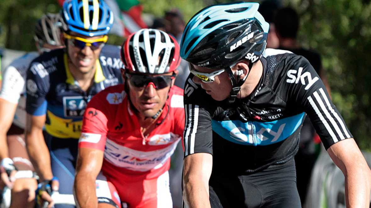"""La Vuelta 2012 está siendo más o menos previsible, la carrera sigue el guión diseñado a priori y, si todo continúa así, hasta Andorra (Collada de la Gallina) y sobre todo Asturias, con el temible Cuitu Negru, no habrá un """"golpe"""" decisivo, la cosa seg"""
