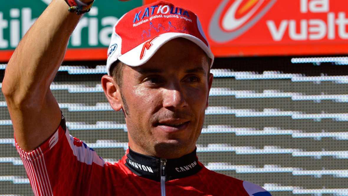"""El actual líder de la Vuelta ciclista a España, Joaquim Rodríguez, ha declarado en la línea de meta de la séptima etapa de la competición que """"el puerto de la Gallina es un puerto que lo conozco muy bien, aunque por mucho que lo conozca si suben mu"""