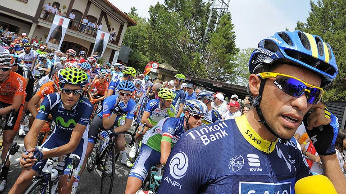 Alberto Contador, corredor español del Saxo Bank, ha asegurado en la salida de la séptima et