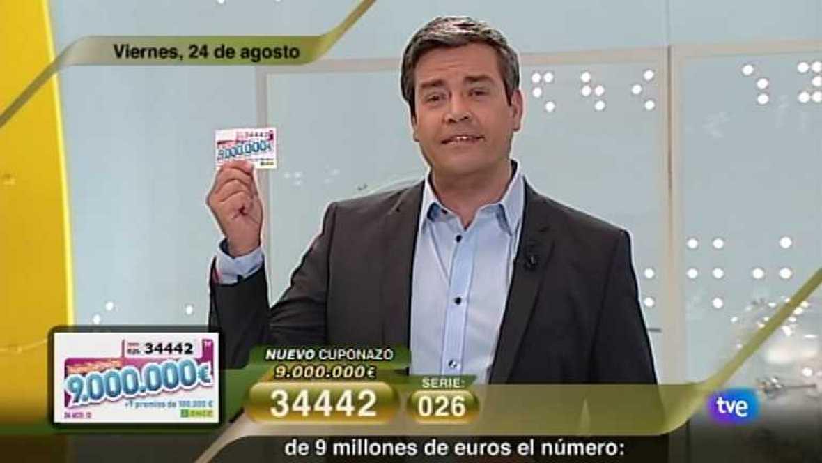 Sorteo ONCE - 24/08/12 - Ver ahora
