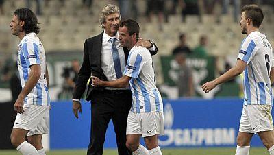 El conjunto que dirige Manuel Pellegrini empata a cero en Atenas contra el Panathinaikos y estará en el sorteo de la fase de grupos de este jueves.