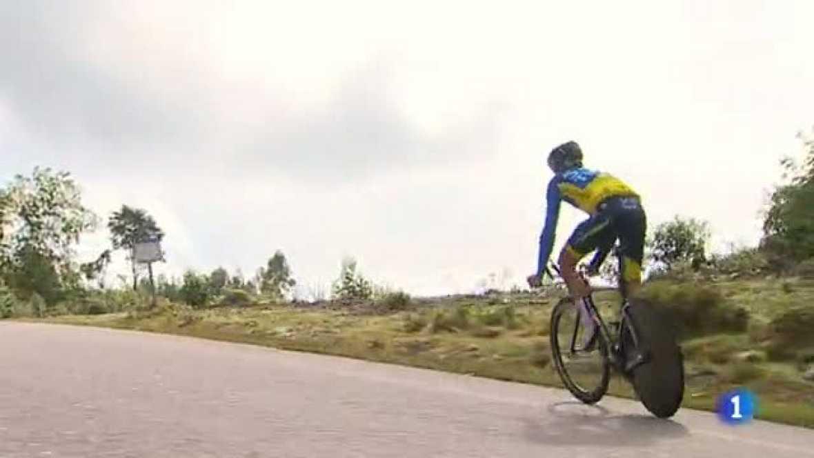 Todos saben que la contrarreloj de Cambados - Pontevedra es clave y por eso los cuatro corredores que luchan por la general han recorrido el trazado varias veces. Algunos como Alberto Contador hasta seis veces.