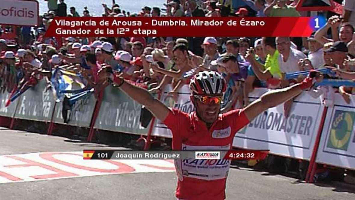 Vuelta ciclista a España 2012 - 12ª etapa: Vilagarcía de Arousa-Dumbia. Mirador de Ezaro - Ver ahora