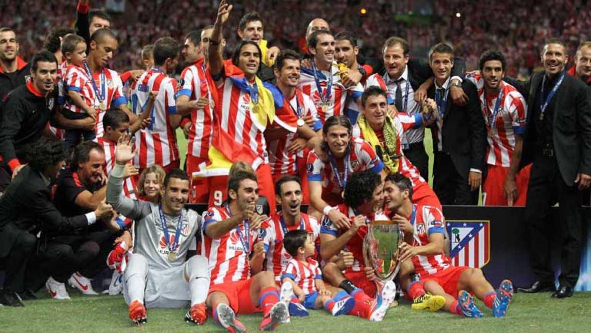 Resumen musical con las mejores imágenes de la final de la Supercopa de Europa en la que el Atlético de Madrid se ha impuesto al Chelsea por 1-4.