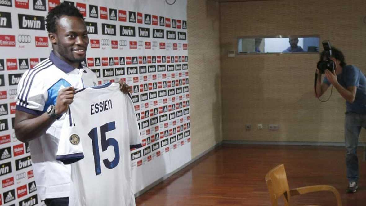 """El centrocampista ghanés, que llega cedido al Real Madrid, ha sido presentado oficialmente ante los medios y ha confesado que admira a Mourinho y le considera como """"un padre""""."""