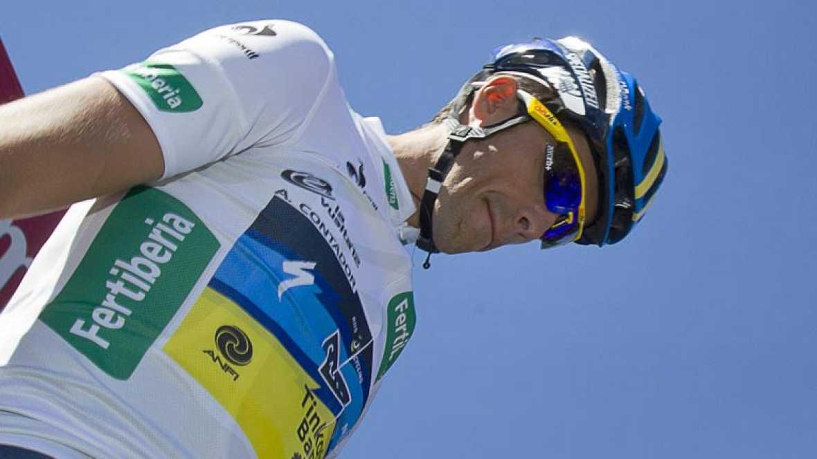 Joaquim 'Purito' Rodríguez ha dado un golpe de mando en la subida a Ancares de la Vuelta a España, respondiendo al ataque de su principal rival, Alberto Contador, y arrebatándole la victoria de etapa.