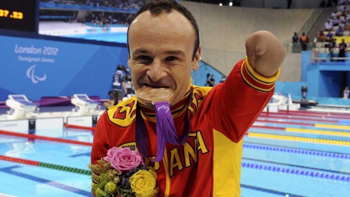 El español ha finalizado tercero en la prueba de 100 metros braza SB4 de los Juegos Paralímpicos de Londres 2012.