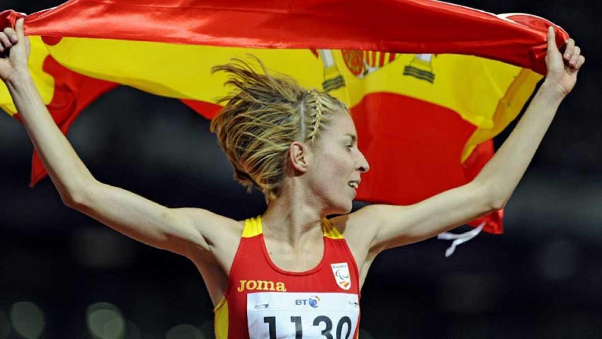 La atleta española ha logrado la medalla de plata en la distancia de 1.500 metros en categoría T46 en los Juegos Paralímpicos de Londres 2012.