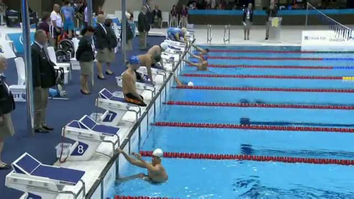 El nadador español logra la medalla de plata en la distancia en la categoría S4 de los Juegos Paralímpicos de Londres 2012.