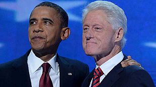 Clinton defiende la política económica de Obama en la convención demócrata
