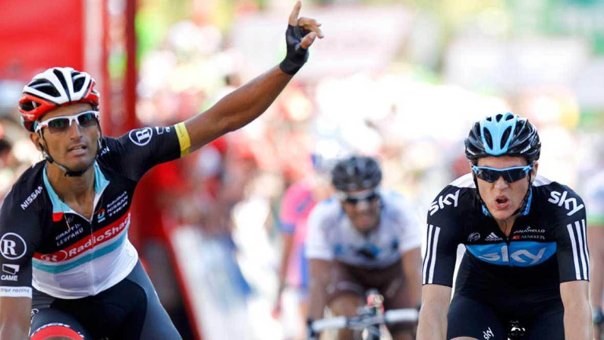 El italiano Daniele Bennati, del Radioshack, ha sido el vencedor de la decimoctava etapa de la Vuelta disputada entre Aguilar de Campoo y Valladolid, la más larga de la presente edición con 204,5 kilómetros, en la que Alberto Contador mantuvo el mail