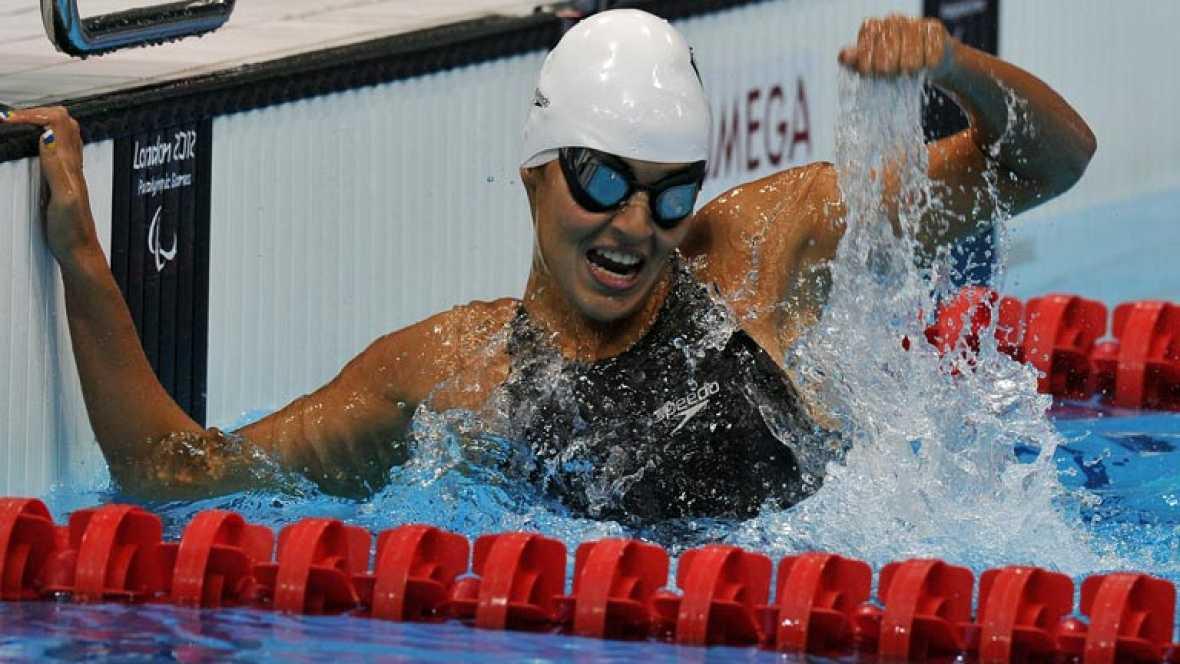 La española Michelle Alonso ha logrado el oro en 100 metros braza de los Juegos Paralímpicos de Londres 2012, con récord del mundo incluido.