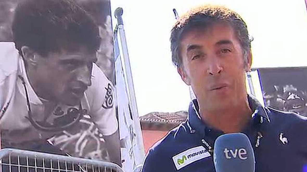 La 19ª etapa de la Vuelta ciclista a España 2012 llega a Segovia y quien mejor que Pedro Delgado para diseñar el final. El comentarista de TVE avisa de que será un final nervioso y que puede haber sustos.