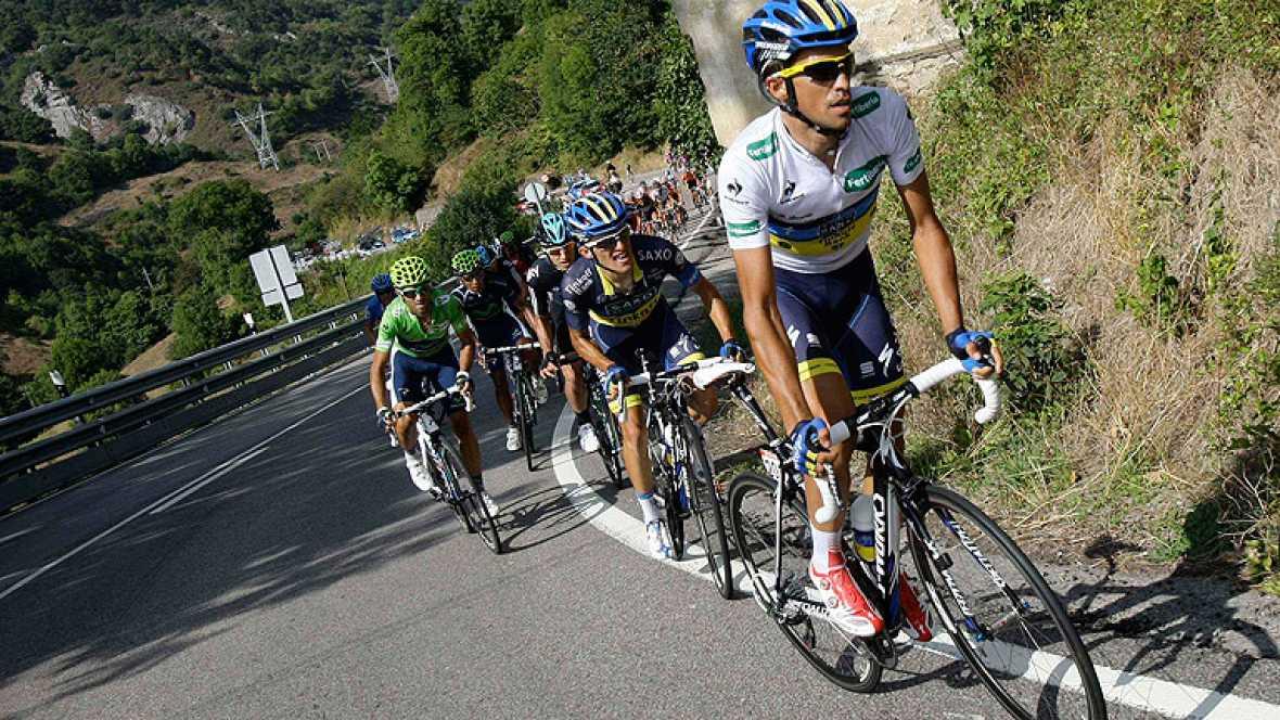 No se pudo ver en directo  pero aquí están las imágenes del ataque de Alberto Contador durante la 17ª etapa que le ha convertido en el líder de la Vuelta a España 2012. Imágenes cedidas por Unipublic y Bkool.