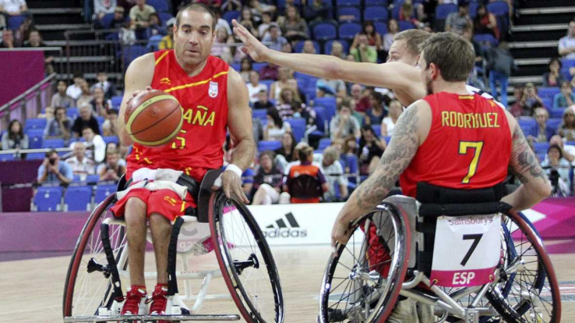 La selección española de baloncesto ha vencido  67-48 a la de Alemania y ha acabado quinta en los Juegos Paralímpicos Londres 2012, evento que terminará mañana en la capital londinense.