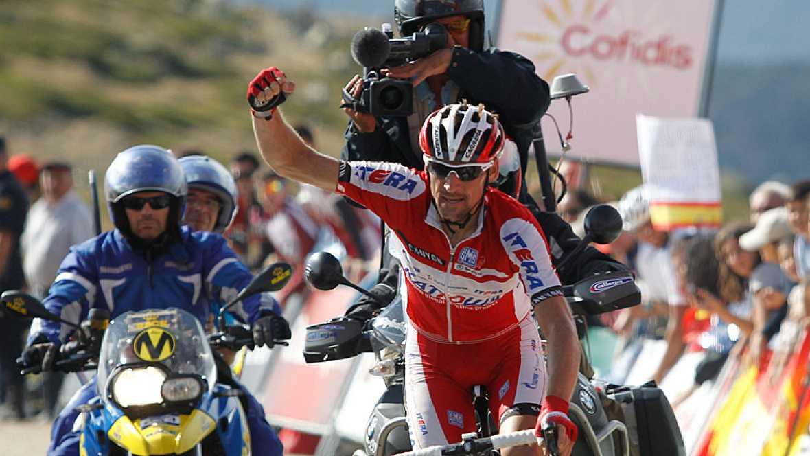 El ruso Denis Menchov (Katusha), doble ganador de la Vuelta a España, mostró su mejor nivel para imponerse en la vigésima etapa disputada entre Segovia y la Bola del Mundo, de 170,7 kilómetros, en la que Alberto Contador se proclamó virtual vencedor