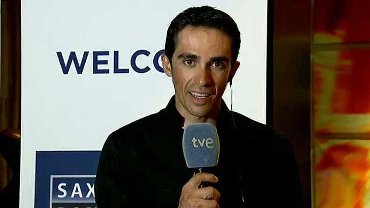 El vencedor de la Vuelta ciclista a España 2012 ha sido entrevistado por María Escario en el Telediario de TVE.