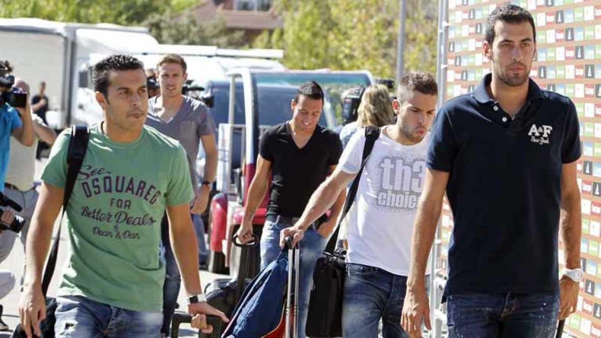 La selección española ha llegado a Tiflis, la capital de Georgia, donde disputará el partido de clasificación para el próximo Mundial de Brasil 2014. Los hombres de Vicente del Bosque quieren empezar con una victoria su camino a la máxima competición