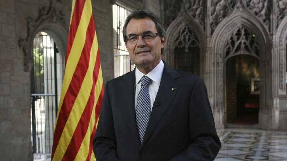 Artur Mas pronuncia su discurso institucional