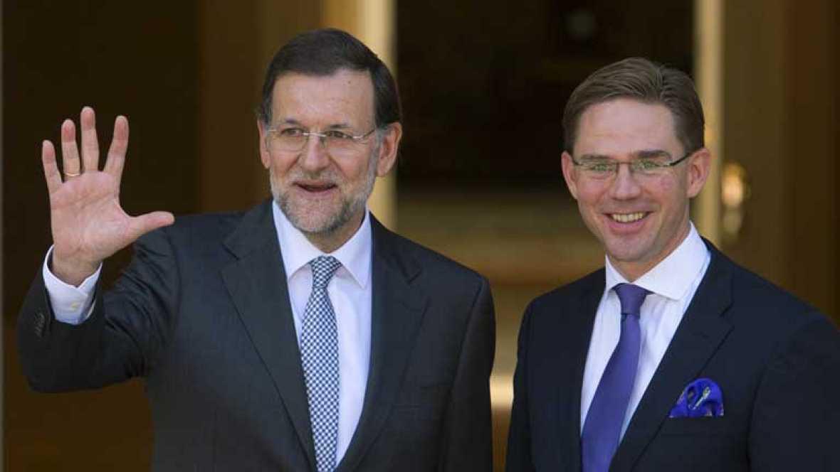 Rajoy traslada a Katainen, primer ministro finlandés, el compromiso de España con el déficit