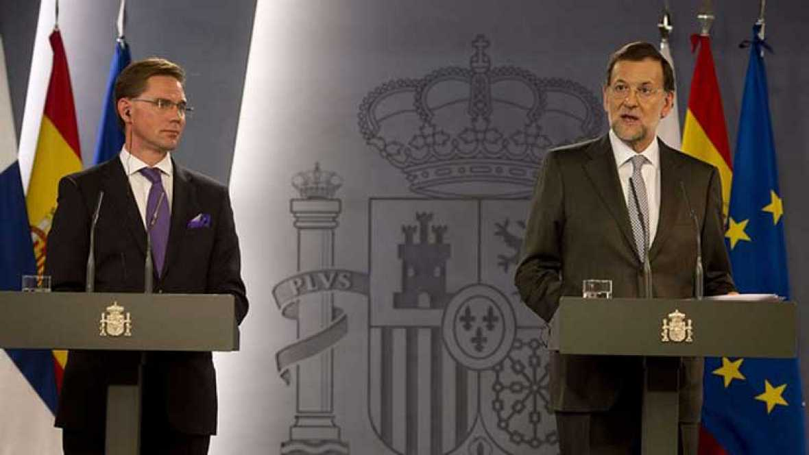 Rajoy le dice al primer ministro finlandés que España no rehuirá de sus responsabilidades