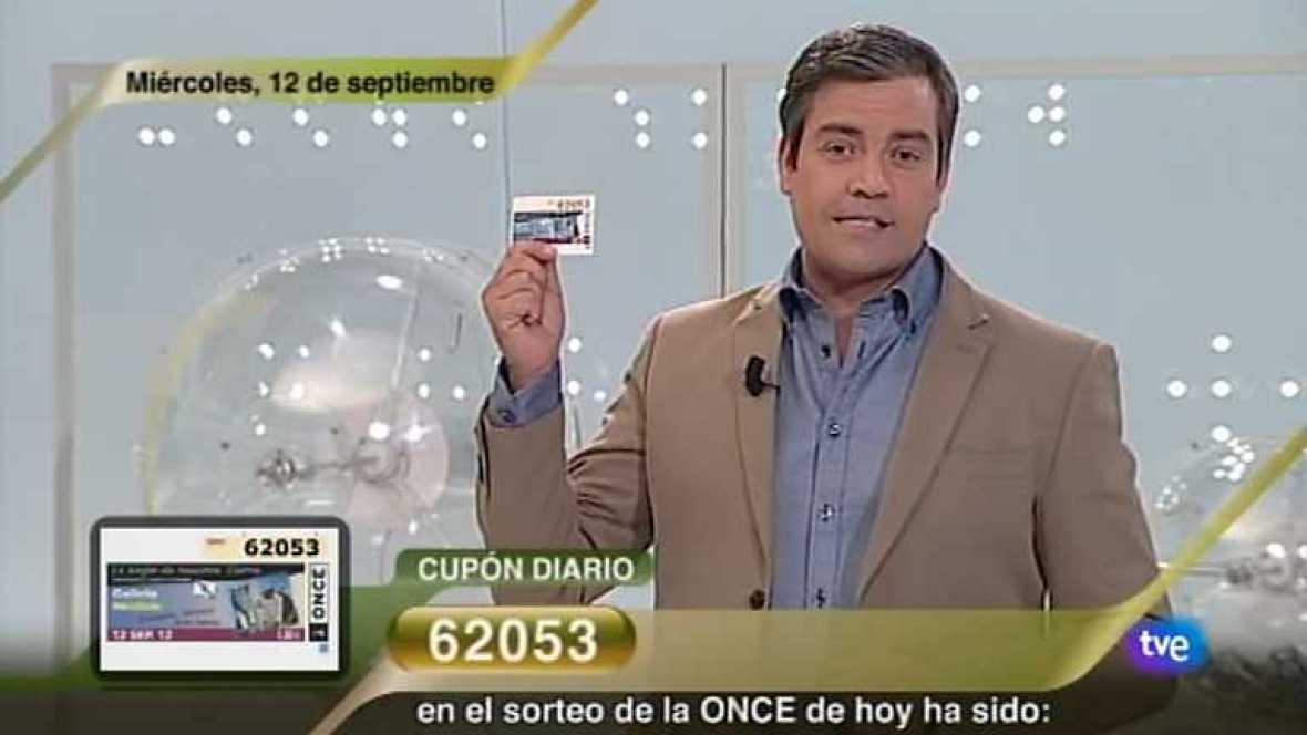Sorteo ONCE - 12/09/12 - Ver ahora