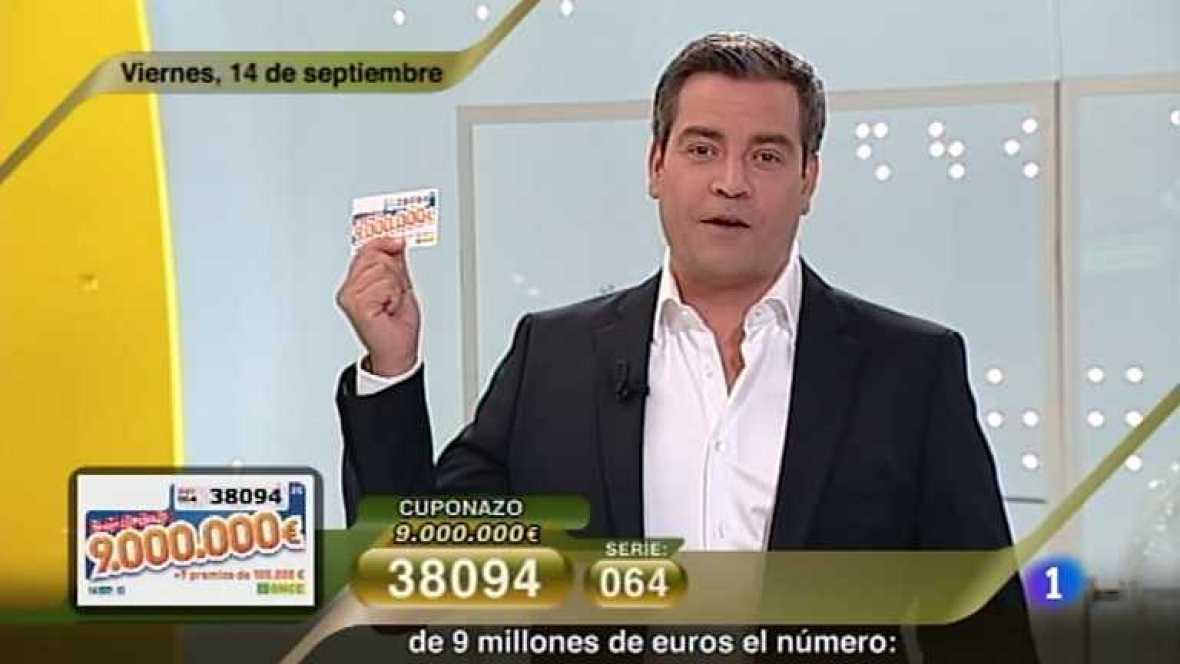 Sorteo ONCE - 14/09/12 - Ver ahora