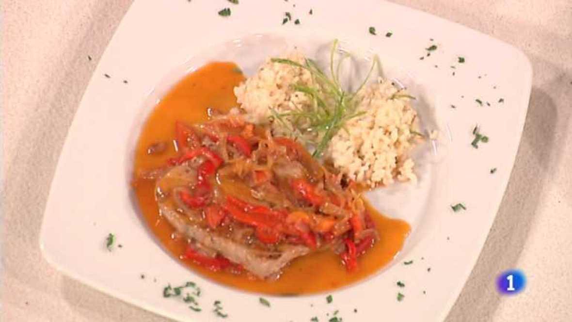 Cocina con Sergio - Atún con pimientos y arroz - Ver ahora