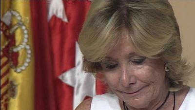 Aguirre se emociona al dimitir