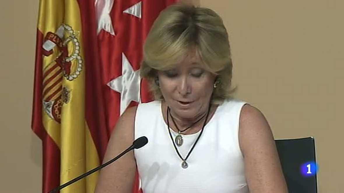 Aguirre dimite como presidenta de la Comunidad de Madrid y diputada regional