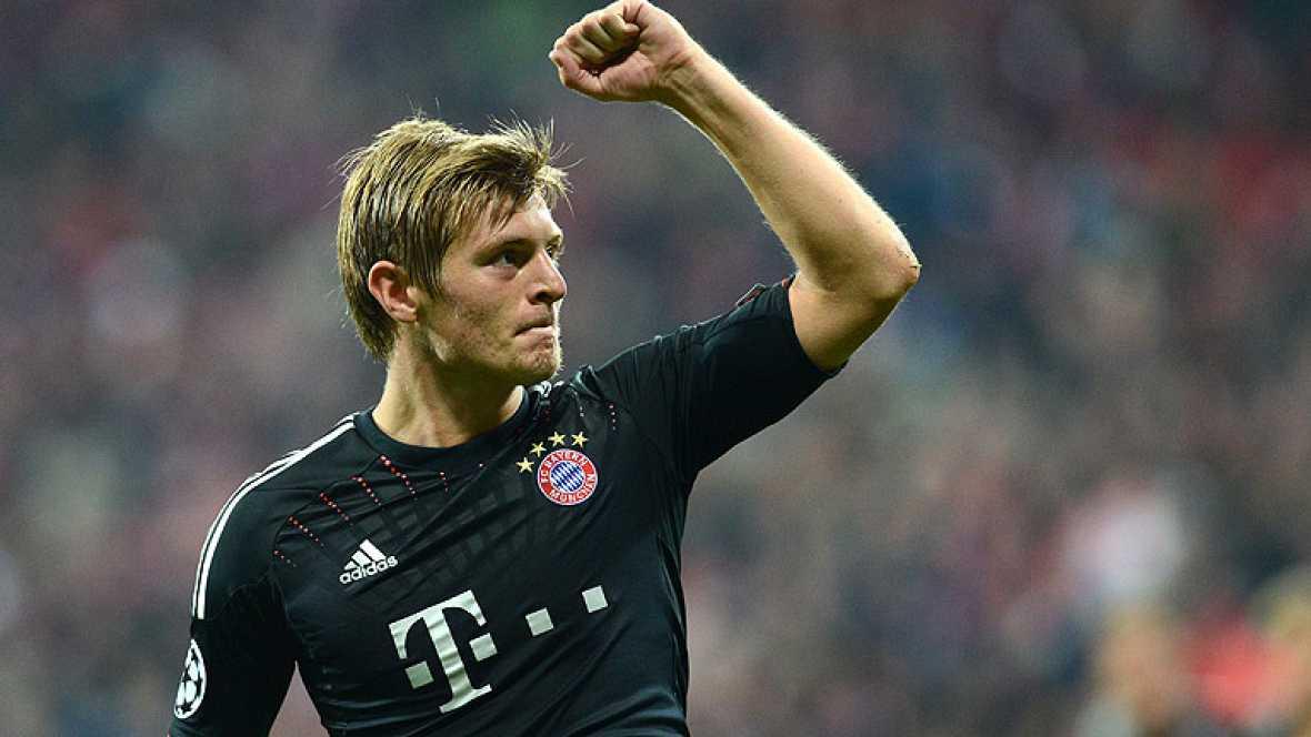 El jugador del Bayern de Múnich puso en la escuadra el segundo tanto del equipo bávaro con un soberbio disparo desde fuera del área que no pudo atajar Diego Alves.