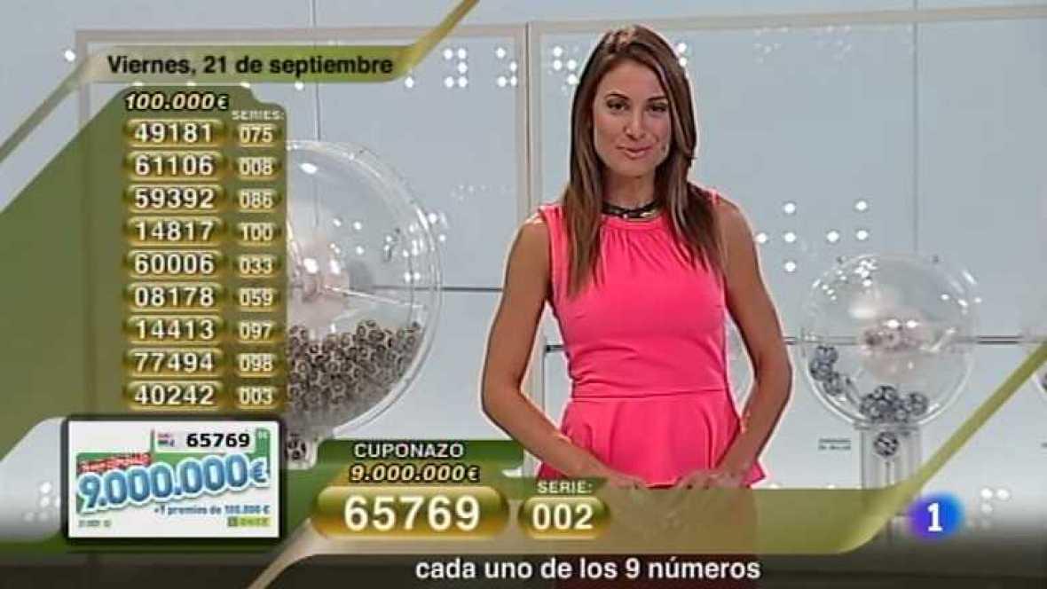 Sorteo ONCE - 21/09/12 - Ver ahora