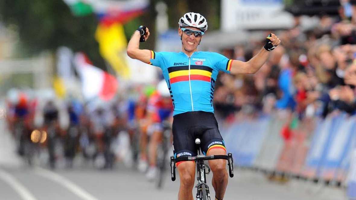 Triunfo de Gilbert en el mundial de ciclismo 2012