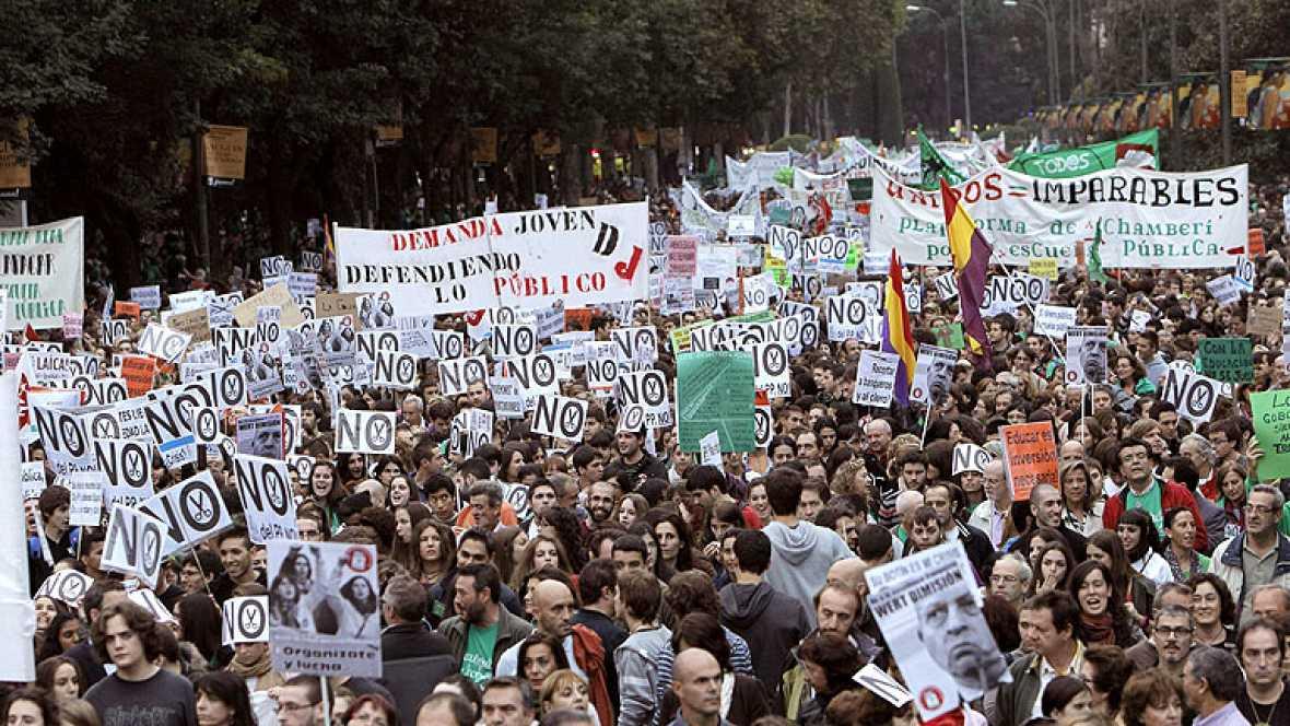 Huelga en la enseñanza pública y manifestaciones en distintas ciudades