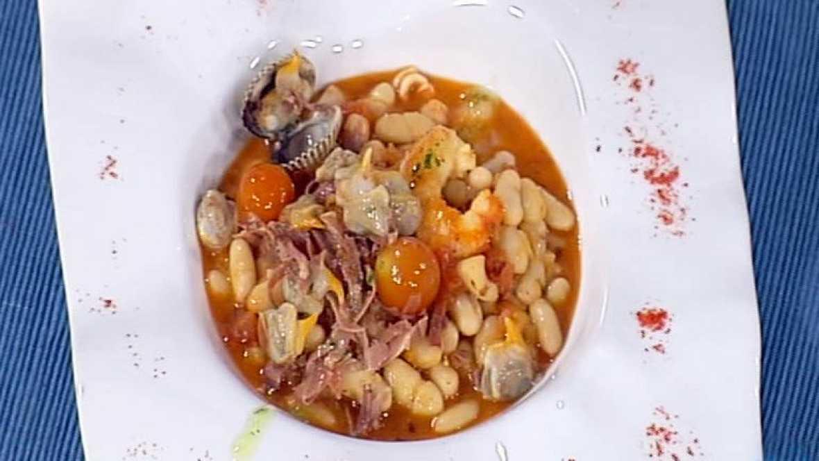 Cocina con sergio jud as en salsa de marisco con tomate - Cocina con sergio pepa ...