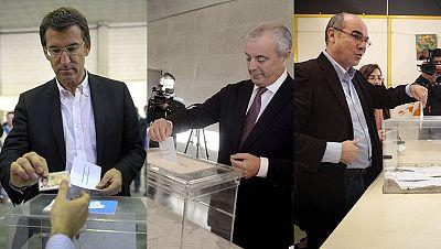Los candidatos gallegos ya han ejercido su derecho a voto