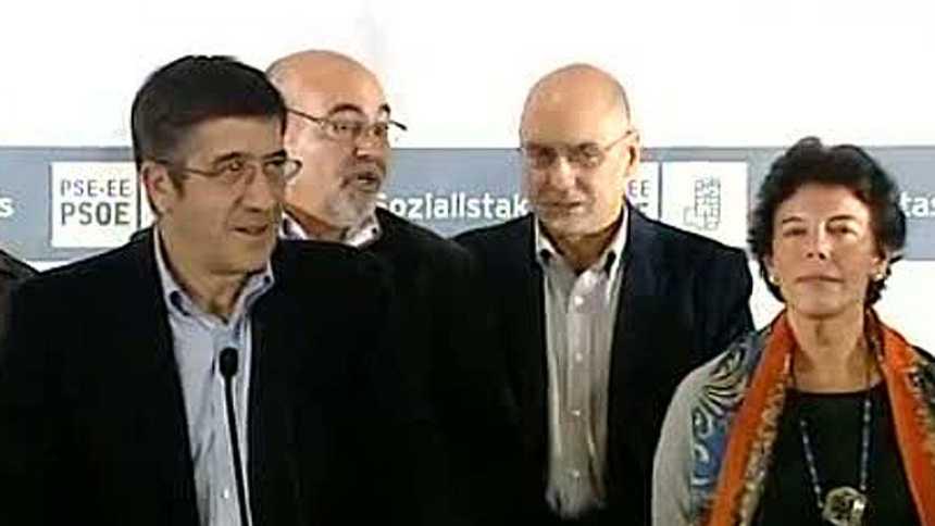 """Patxi López: """"En estas elecciones no termina la aventura socialista en Euskadi"""""""