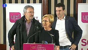 Rosa Díez cree que UPyD ha tenido en Euskadi el mejor resultado posible