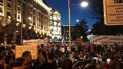 Protestas en los alrededores del Congreso