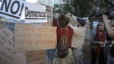 La protesta frente al congreso acaba sin incidentes