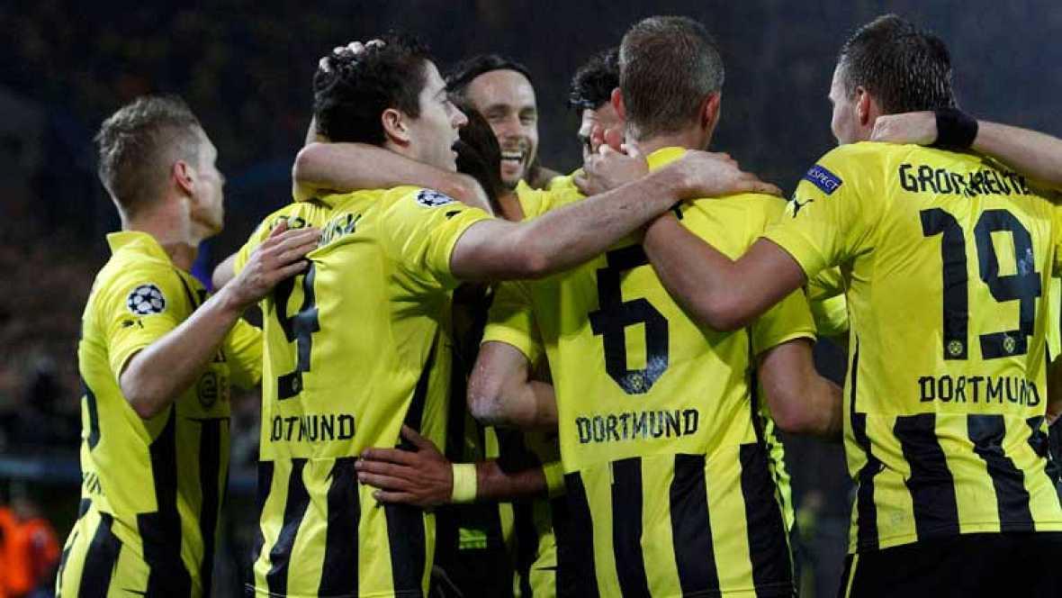 El jugador Schmelzer ha marcado el gol de la victoria del Borussia de Dortmund sobre el Real Madrid en el minuto 64 de juego.