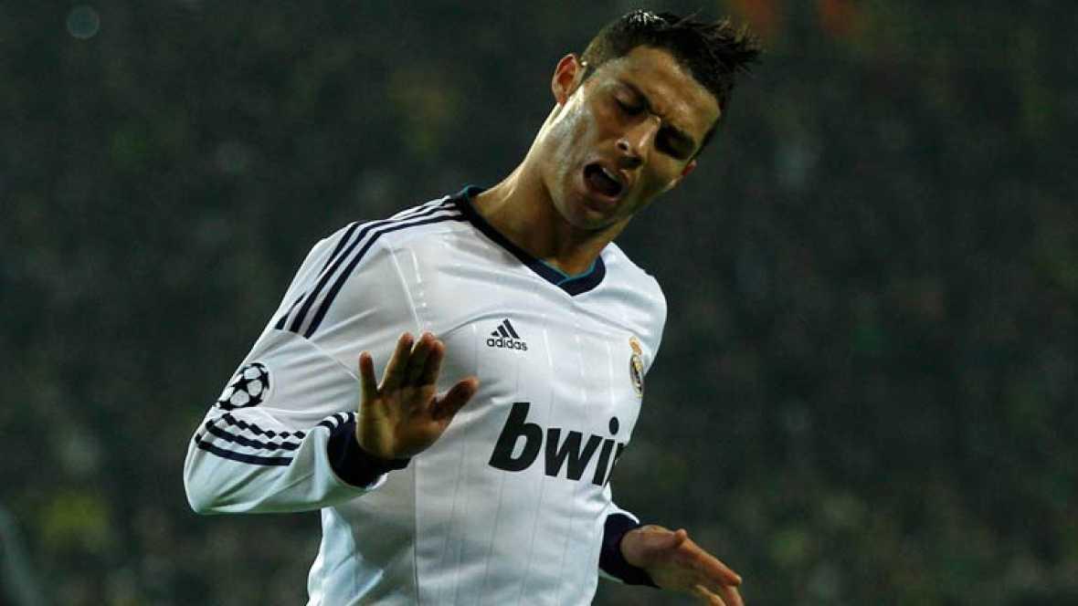 Cristiano Ronaldo ha marcado el gol del empate ante el Borussia Dortmund tan solo dos minutos después de que marcase el equipo alemán, en el 37 de juego.
